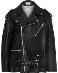 W118 by Walter Baker - Claude Oversized Leather Biker Jacket - Lyst