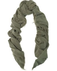 IRO - Frayed Wool And Cashmere-blend Scarf - Lyst
