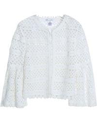 Oscar de la Renta - Fluted Cotton-lace Jacket - Lyst