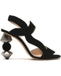 Camilla Elphick - Suede Slingback Sandals - Lyst