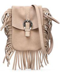 Maje - Fringed Suede Shoulder Bag - Lyst