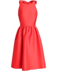 Kate Spade - Bow-embellished Woven Dress - Lyst