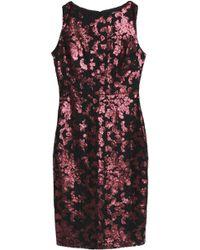 Badgley Mischka - Sequin-embellished Lace Dress - Lyst