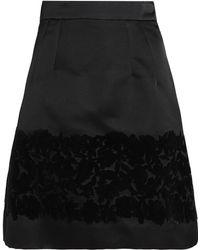 Dolce & Gabbana - Flocked Silk-blend Mini Skirt - Lyst