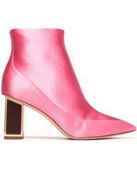 Diane von Furstenberg - Cainta Satin Ankle Boots - Lyst