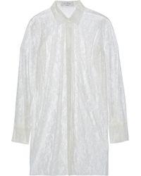 Valentino - Silk-lace Shirt - Lyst