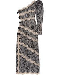 Alessandra Rich - One-shoulder Lace Gown - Lyst