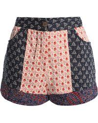 Antik Batik - Paty Printed Woven Cotton Shorts - Lyst