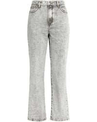 Maje Woman Perla Faded High-rise Straight-leg Jeans Light Gray Size 36 Maje Clearance Recommend Cheap Brand New Unisex k4dtyx5kM4