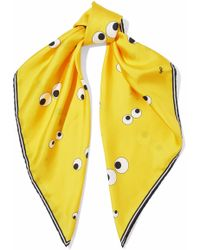 Anya Hindmarch | Printed Silk Satin-faille Scarf | Lyst