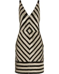 J.Crew - Collection Chevron Embellished Crepe Dress - Lyst