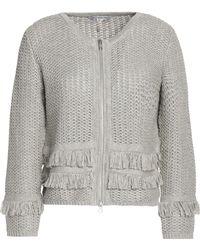 Autumn Cashmere - Fringe-trimmed Ribbed-knit Cotton Jumper - Lyst