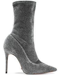 Schutz - Mislane Metallic Stretch-knit Ankle Boots - Lyst