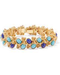 Ben-Amun - Gold-tone Stone Bracelet - Lyst
