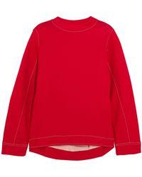 Marni - Oversized Cotton-blend Jersey Sweatshirt - Lyst