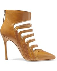 Chelsea Paris - Adile Cutout Leather Boots - Lyst