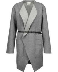 Joie - Calia Belted Wool-blend Coat - Lyst