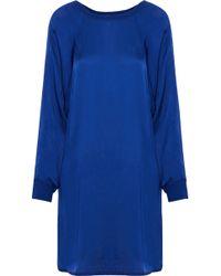 Enza Costa - Satin Mini Dress - Lyst