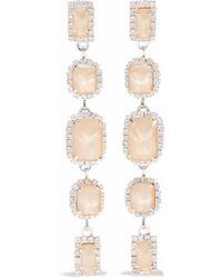 Elizabeth Cole - Silver-tone, Swarovski Crystal And Stone Earrings - Lyst