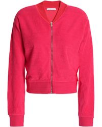 Orlebar Brown - Cotton-terry Jacket Bright Pink - Lyst
