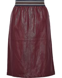 Vanessa Bruno Athé - Faux Leather Skirt - Lyst