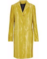MSGM | Cotton-blend Faux Fur Coat Lime Green | Lyst