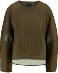 By Malene Birger - Asilla Faille-paneled Cotton-terry Sweatshirt - Lyst