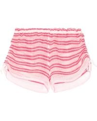lemlem - Selina Striped Cotton-blend Gauze Shorts - Lyst