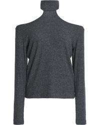LNA - Franklin Cutout Mélange Ribbed-knit Jumper - Lyst