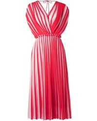 TOME - Two-tone Pleated Georgette Dress - Lyst