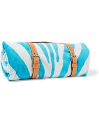Maslin & Co - Zebra-print Brushed-cotton Towel - Lyst