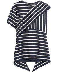 Goen.J | Asymmetric Layered Striped Cotton-blend Top | Lyst