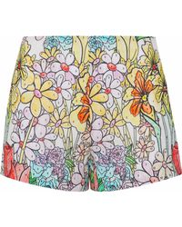 Moschino - Printed Cotton-gauze Shorts - Lyst