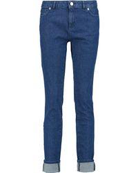Maison Kitsuné - Maison Kitsuné - Low-rise Skinny Jeans - Blue - Lyst