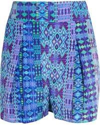 Matthew Williamson - Printed Silk Crepe De Chine Shorts - Lyst