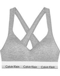 CALVIN KLEIN 205W39NYC - Modern Cotton Stretch Cotton-blend Soft-cup Bra - Lyst