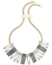 Lanvin - Gold-tone, Resin And Crystal Choker - Lyst