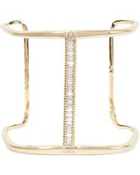 Kevia - Gold-tone Crystal Cuff - Lyst