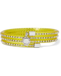 Marc By Marc Jacobs - Slinky Silver-tone, Crystal And Rubber Bracelet - Lyst