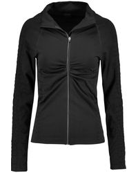 Yummie By Heather Thomson - - Vera Croc Effect-trimmed Stretch-jersey Jacket - Black - Lyst