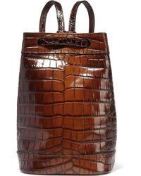 Tomas Maier - Croc-effect Glossed-leather Shoulder Backpack - Lyst