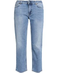 Acne Studios - Cropped Faded Mid-rise Slim-leg Jeans - Lyst
