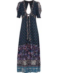 Anna Sui - Open-back Printed Silk Robe - Lyst
