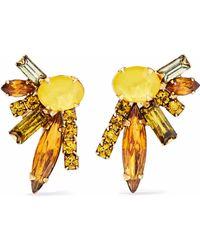 Elizabeth Cole - Woman 24-karat Gold-plated, Swarovski Crystal And Stone Earrings Gold - Lyst
