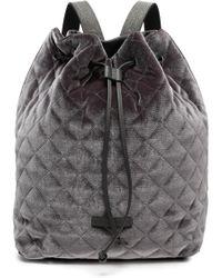 Brunello Cucinelli - Quilted Velvet Backpack - Lyst