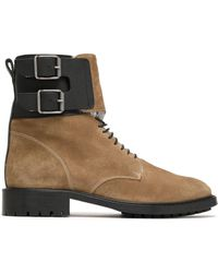 Belstaff - Buckle-detailed Suede Ankle Boots - Lyst
