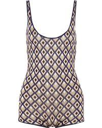 Vionnet - Jacquard-knit Silk-blend Bodysuit - Lyst