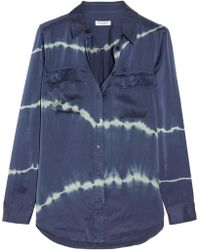 Equipment - Slim Signature Tie-dye Washed-silk Shirt - Lyst