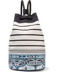 Emilio Pucci - Leather-trimmed Printed Canvas Backpack - Lyst