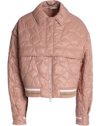 Stella McCartney - Metallic-trimmed Quilted Shell Jacket Antique Rose - Lyst